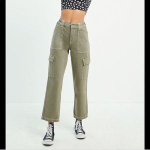 Pac Sun Utility Cargo Pants Moss